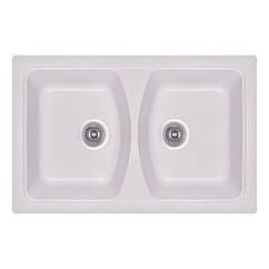 Мойка кухонная Fosto 79x50 SGA-203 (метель) двойная