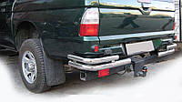 Mitsubishi L200 1996-2006 Задние углы AK003-Double (2 шт, нерж)
