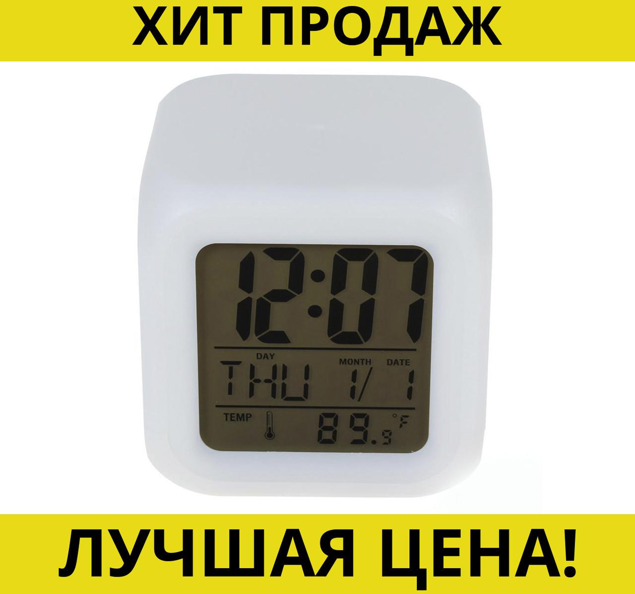 Электронные светящиеся часы Куб CK-20