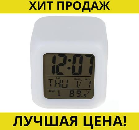 Электронные светящиеся часы Куб CK-20, фото 2