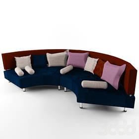 Диван дизайнерский под заказ Радиусный-4 (Мебель-Плюс TM)