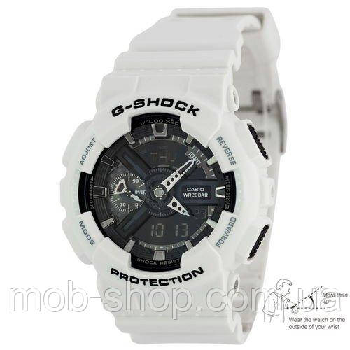 Наручные часы Casio G-Shock AAA GA-110 White-Black Autolight