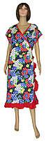 NEW! Жіночі літні оригінальні літні халати - серія Oborka Batal Red коттон ТМ УКРТРИКОТАЖ!