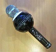 Портативный беспроводной блютуз микрофон WS-878 + караоке Новое, Разные цвета, Черный, 90