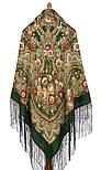 Посадский 874-10, павлопосадский платок (шаль) из уплотненной шерсти с шелковой вязаной бахромой, фото 2