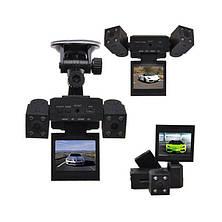 Видеорегистратор автомобильный DVR H3000 2 камеры, фото 3