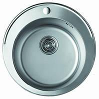 Мойка кухонная Cristal UA7103ZS (ROMA) круглая врезная 480x180 SATIN