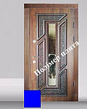 Двери входные из полимер плитой с ковкой, фото 2