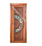 Двері вхідні з полімер плитою з ковкою, фото 2