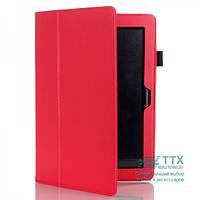 Кожаный чехол-книжка TTX с функцией подставки для Lenovo IdeaTab S5000 Красный