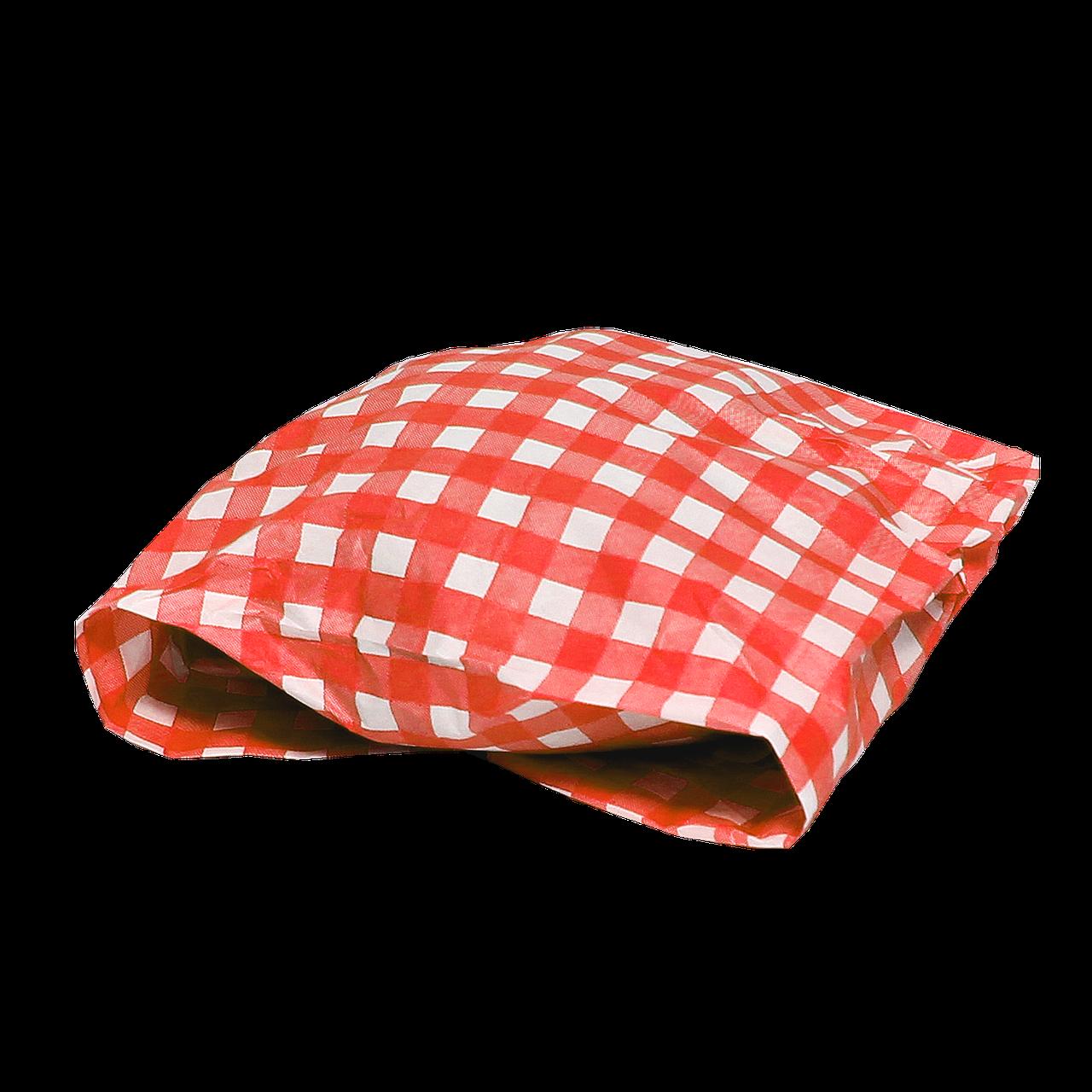 """Бумага упаковочная """"Гамбургер"""" 300х320мм (ВхШ) 40г/м² 1000шт (1773) Красная клетка"""