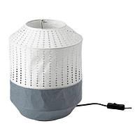 Настольная лампа IKEA MAJORNA 32 см Бело-серый (103.238.58)