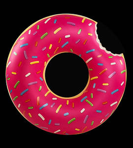 Детский надувной круг Пончик, диаметр 90 см