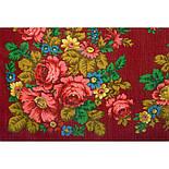 Солнечная тропинка 1847-5, павлопосадский платок шерстяной (разреженная шерсть) с швом зиг-заг, фото 3