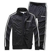 Зимний мужской спортивный костюм Reebok черного цвета (Рибок)