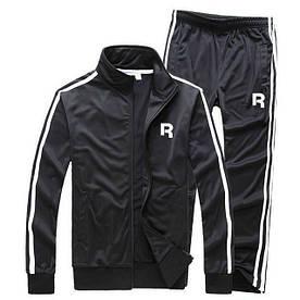 Теплий тренувальний костюм Reebok чорного кольору (Рібок)