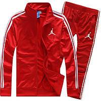 Мужской красный спортивный костюм Jordan с лампасами (Джордан)