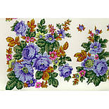 Солнечная тропинка 1847-1, павлопосадский платок шерстяной (разреженная шерсть) с швом зиг-заг, фото 3