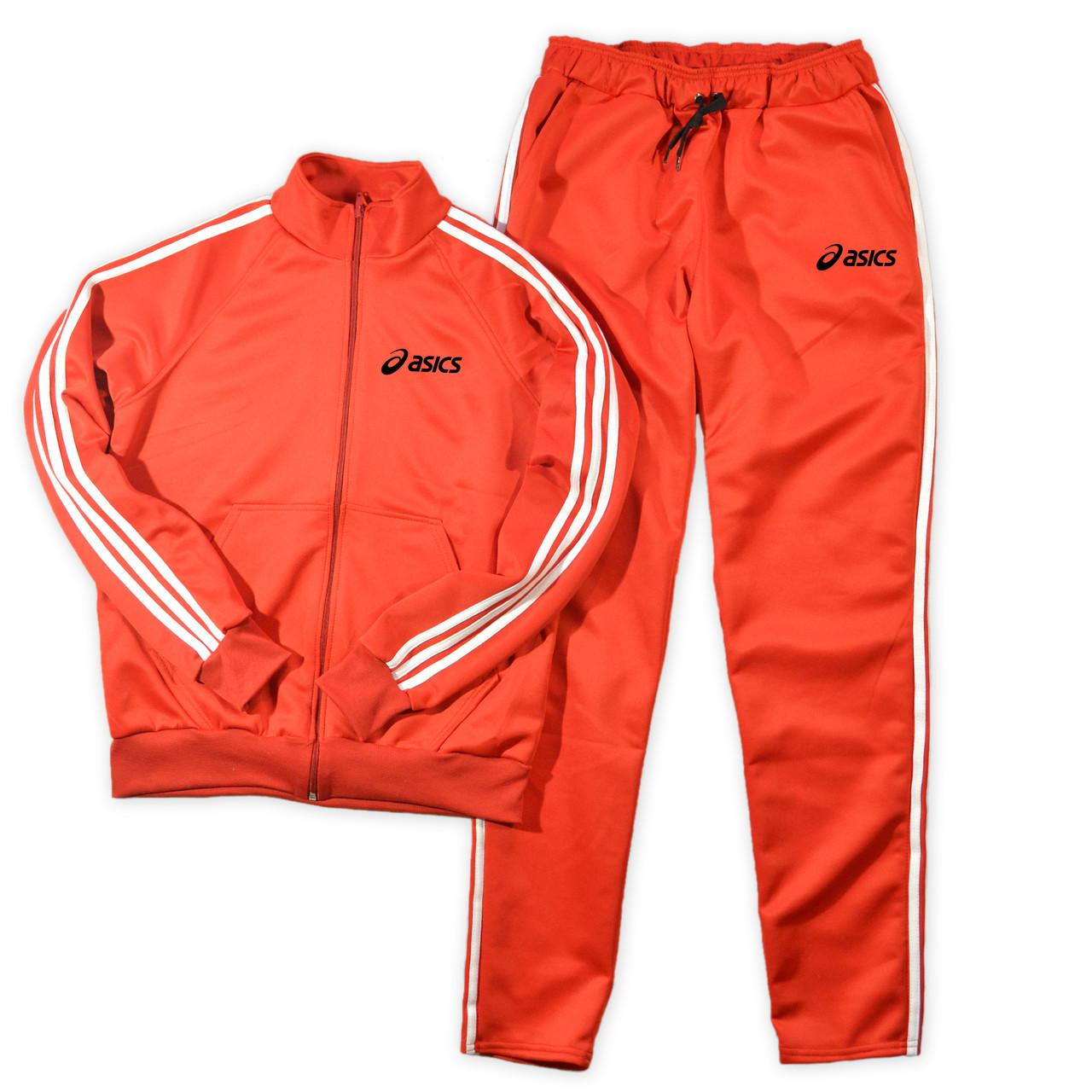 Червоний чоловічий спортивний костюм Asics (Асикс)
