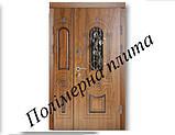 Двери входные из полимер плитой с ковкой, фото 3