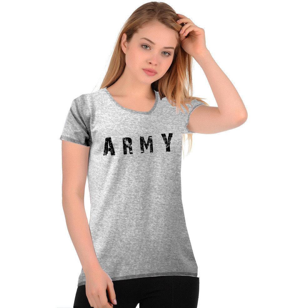 "Футболка женская ""ARMY""  Меланж"
