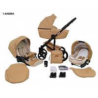 Детская универсальная коляска 2 в 1 Comodo 1 Mikrus Польша бежевая COM 1