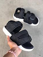Сандалии Adidas Adilette Black White (Адидас черного цвета на лето) женские и мужские размеры