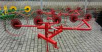 Грабли-ворошилки на квадратной трубе Agromech PZK-5 Польша -Украина (на 5 секции)