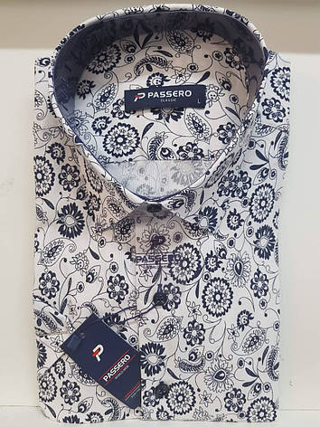 Рубашка с коротким рукавом Passero с принтом, фото 2