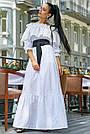 Белое летнее платье длинное с открытыми плечами, фото 4