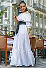 Белое летнее платье длинное с открытыми плечами, фото 6