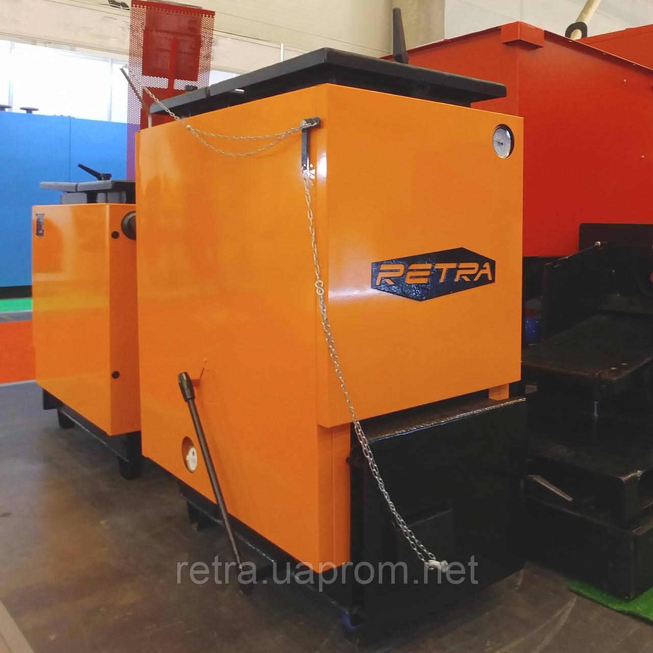 Котел твердотопливный Ретра-6М Comfort 32 кВт шахтный длительного горения