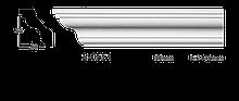 Карниз потолочный гладкий Classic Home 2-0551 flex, лепной декор из полиуретана