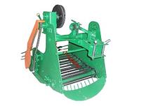 Картофелекопатель транспортерный цепной КМ-5 для тяжелых мотоблоков (привод справа)