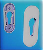 Накладка на серцевину дверного замка белая для ПВХ дверей