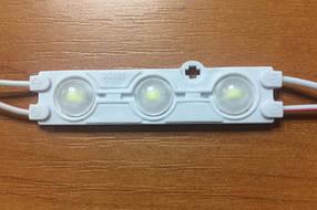 Светодиодный модуль SMD5730 3P2-12 линзованный холодный белый IP66 Код.57538