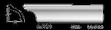 Карниз потолочный гладкий Classic Home 2-0571, лепной декор из полиуретана
