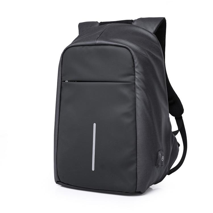 Чоловічий рюкзак KAKA, USB, водостійкий, з захистом від крадіжки, сумка для ноутбука 15,6 Чорний