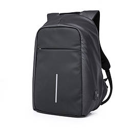 Мужской рюкзак KAKA, USB, водостойкий, с защитой от кражи, сумка для ноутбука, 15,6  Черный