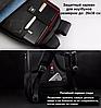 РЮКЗАК ГОРОДСКОЙ TIGERNU T-B3105 USB ЧЕРНЫЙ С ОРАНЖЕВЫМ + замок в подарок, фото 8
