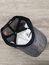 "Женская, бейсболка, кепка с паетками, черного цвета ""BOSS"" размер 53-54, на регуляторе, фото 2"