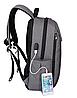 Рюкзак городской TIGERNU T-B3221 СЕРЫЙ, фото 3