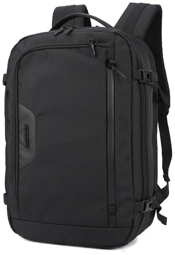 Дорожный рюкзак для путешествий Arctic Hunter B00183(серый и черный), влагозащищённый, 29л