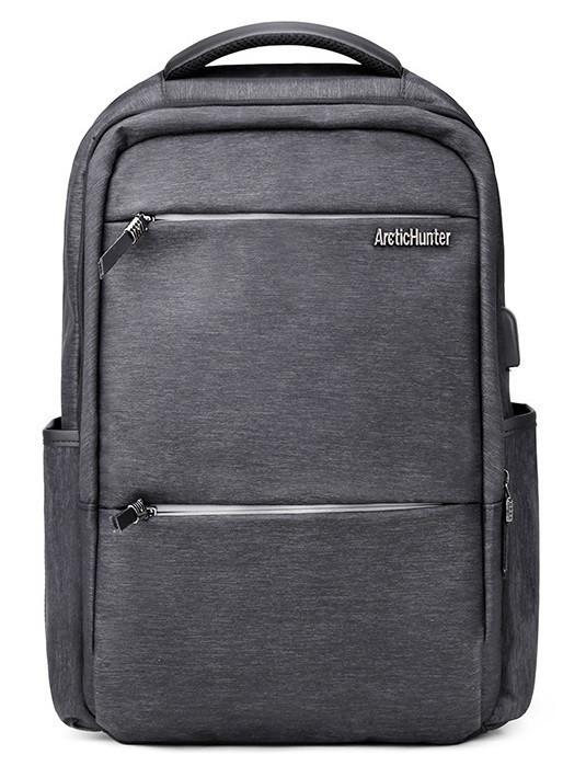 Классический влагозащищённый рюкзак для ноутбука до 15,6 дюймов Arctic Hunter B00107, с USB портом, 22л