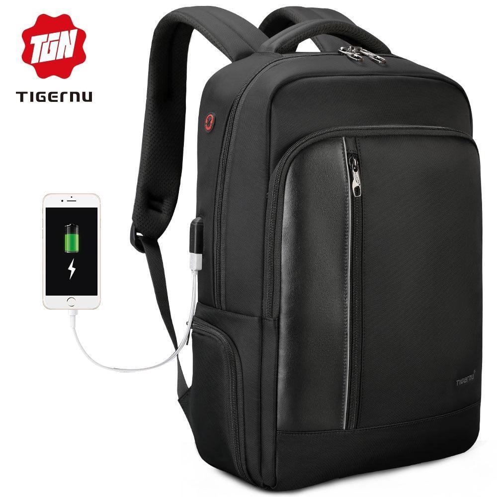 "Водостойкий Anti Theft Мужской Рюкзак Tigernu T-B3668 USB, 15,6"""