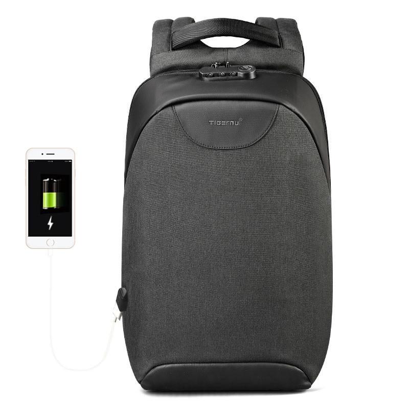 Рюкзак Tigernu T-B3611 c USB-портом, черный