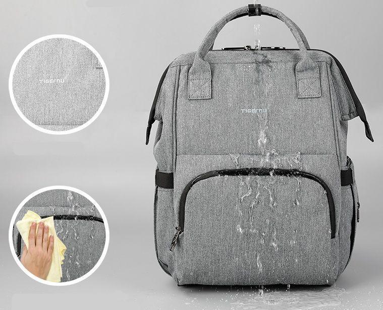 Вместительный женский рюкзак Tigernu T-B3358 для активных мам :), серый