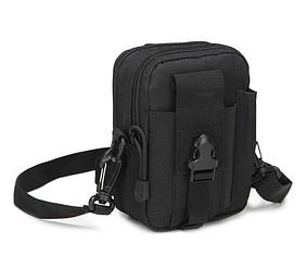Сумка тактична поясна, наплічна сумка, органайзер, подсумок TacticBag чорна