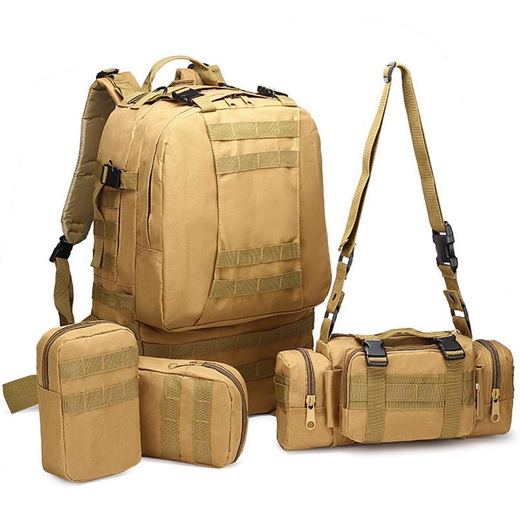 Тактический Штурмовой Военный Рюкзак с подсумками на 50-60литров Кайот TacticBag