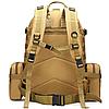 Рюкзак тактический штурмовой военный ForTactic TacticBag с подсумками на 50-60 литров, песочный, фото 2